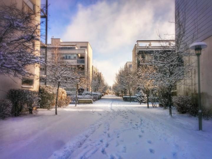 Aalemannufer im Schnee